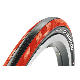"Maxxis Detonator Bike Tire 28"", Dual, foldable red/black"